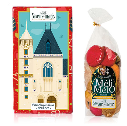 sachet biscuit meli melo et packaging Jacques coeur Bourges