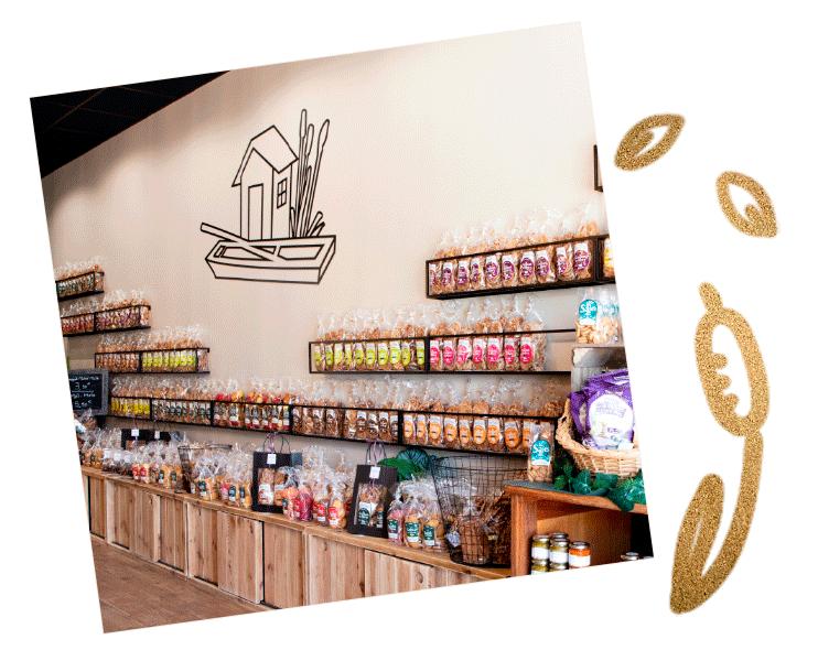 intérieur de la boutique saveurs des marais