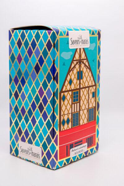 packaging vue de trois quart colombage