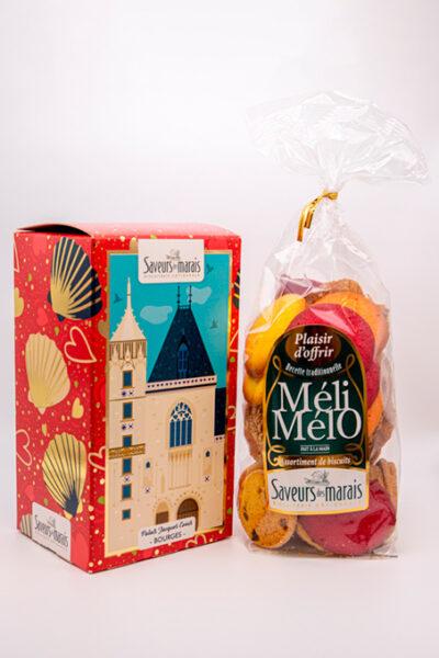 packaging et biscuits vue de face palais Jacques coeur