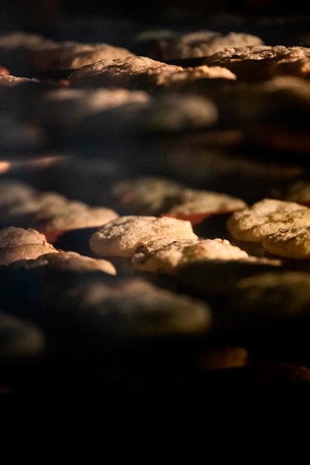 biscuits au four en train de cuire